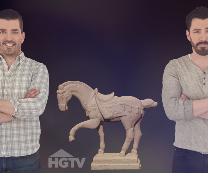 HGTV A Very Brady Renovation 3D Scan of Property Brothers Drew Jonathan Scott The Scan Truck