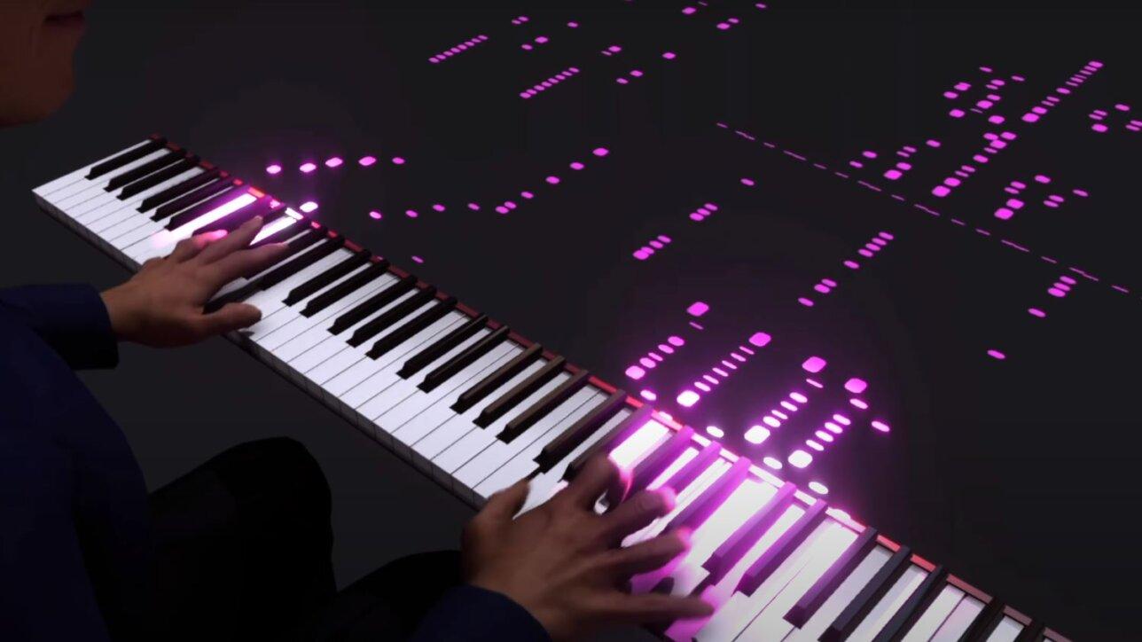 The Scan Truck piano guys AR app AR pianist